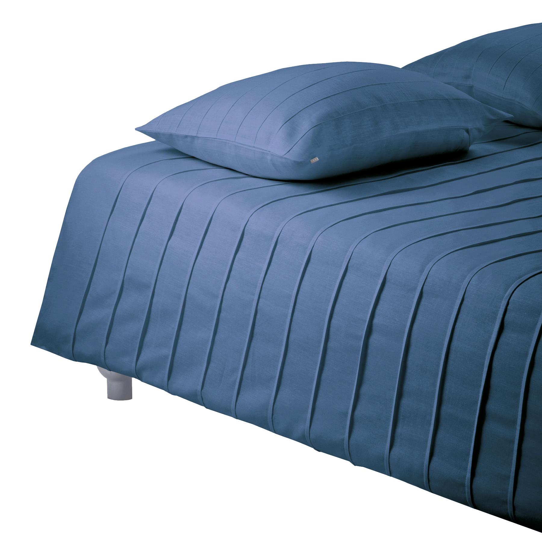BED COVER IRIS <br />denim blue
