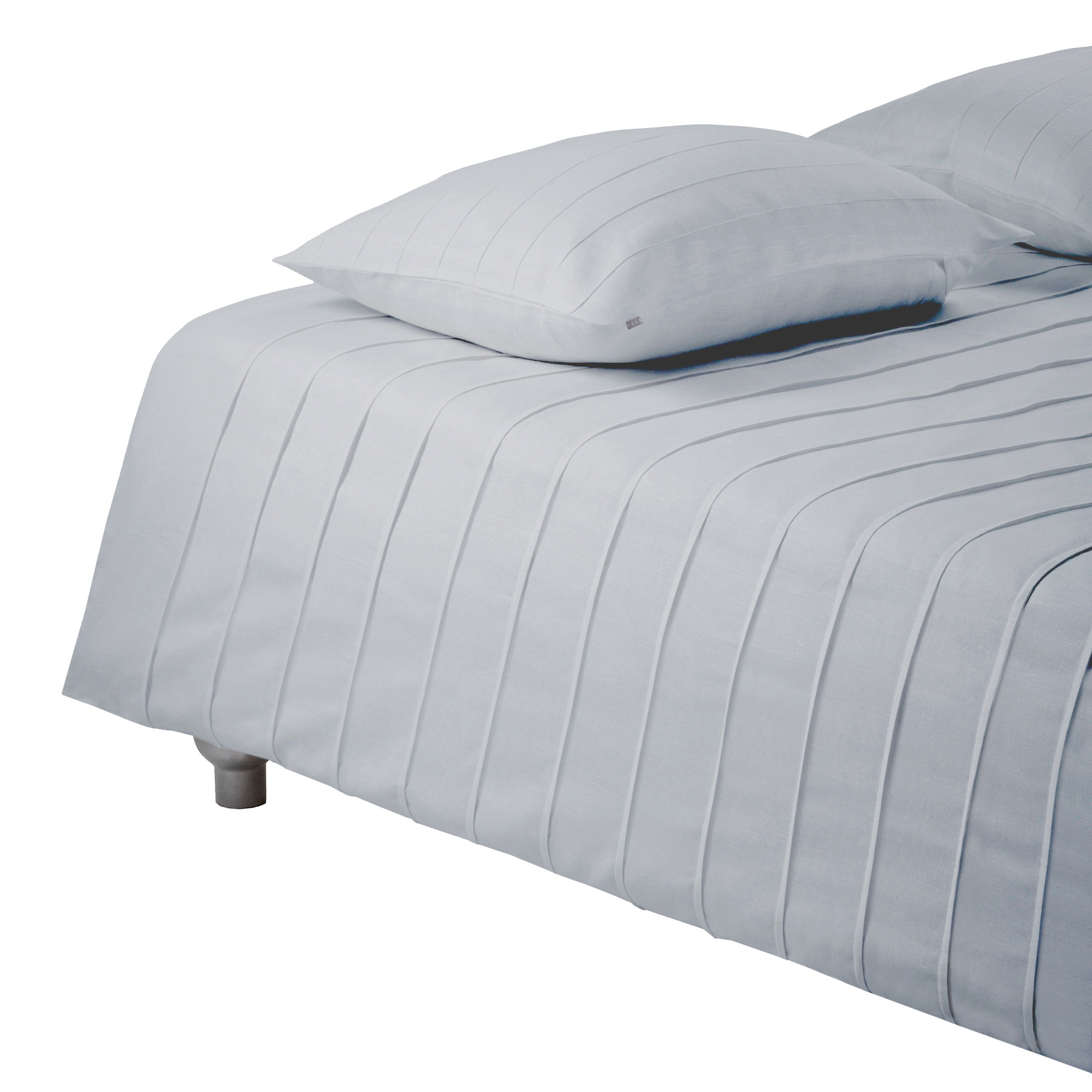 BED COVER IRIS <br />light gray