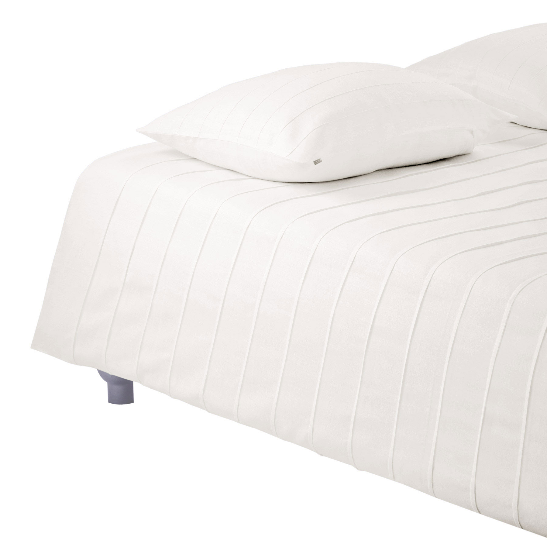 BED COVER IRIS <br />natural white