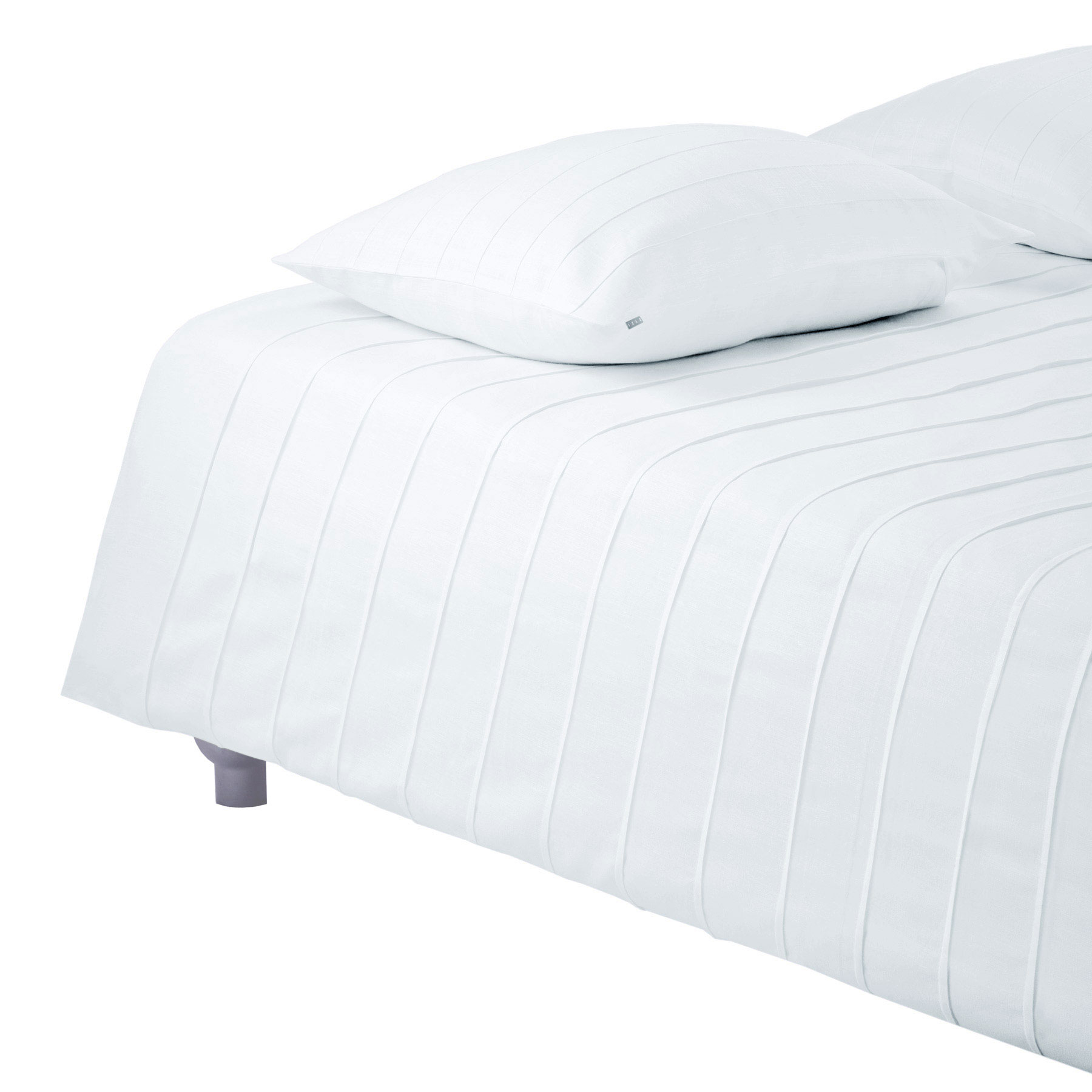 BED COVER IRIS <br />white