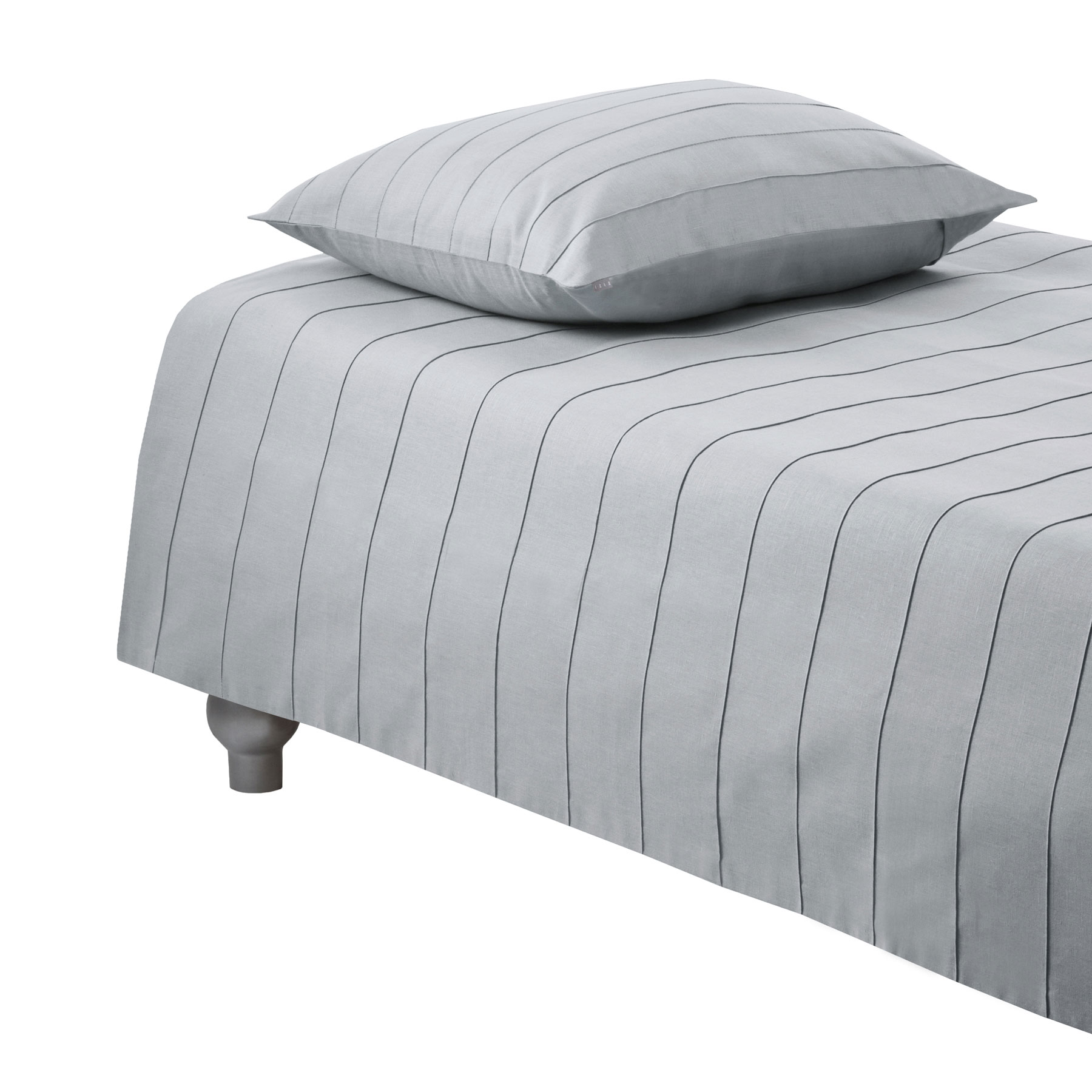 PILLOWCASE IRIS <br />light gray