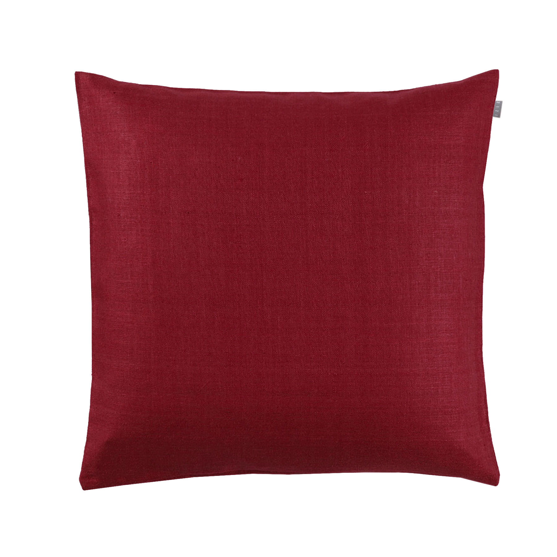CUSHION COVER PLAIN <br />tango red