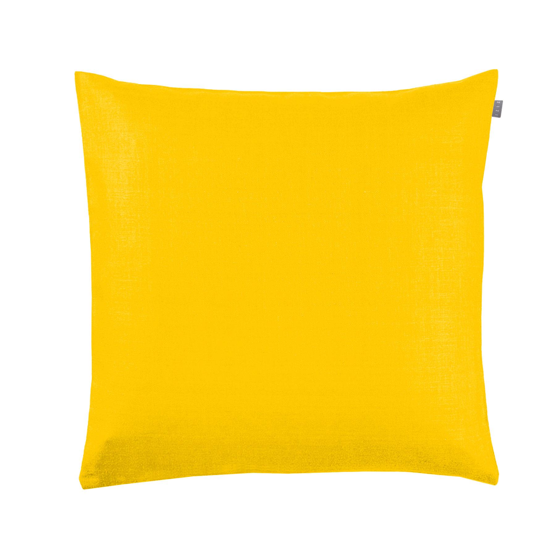 Cushion Cover Plain Yellow Zizi Linen Home Textiles