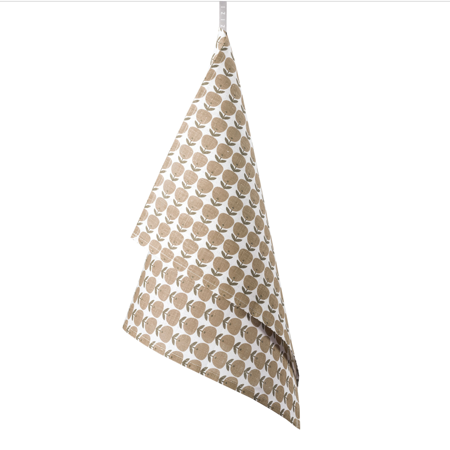 TEA TOWEL APPLE <br />brown