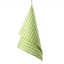TEA TOWEL APPLE –green
