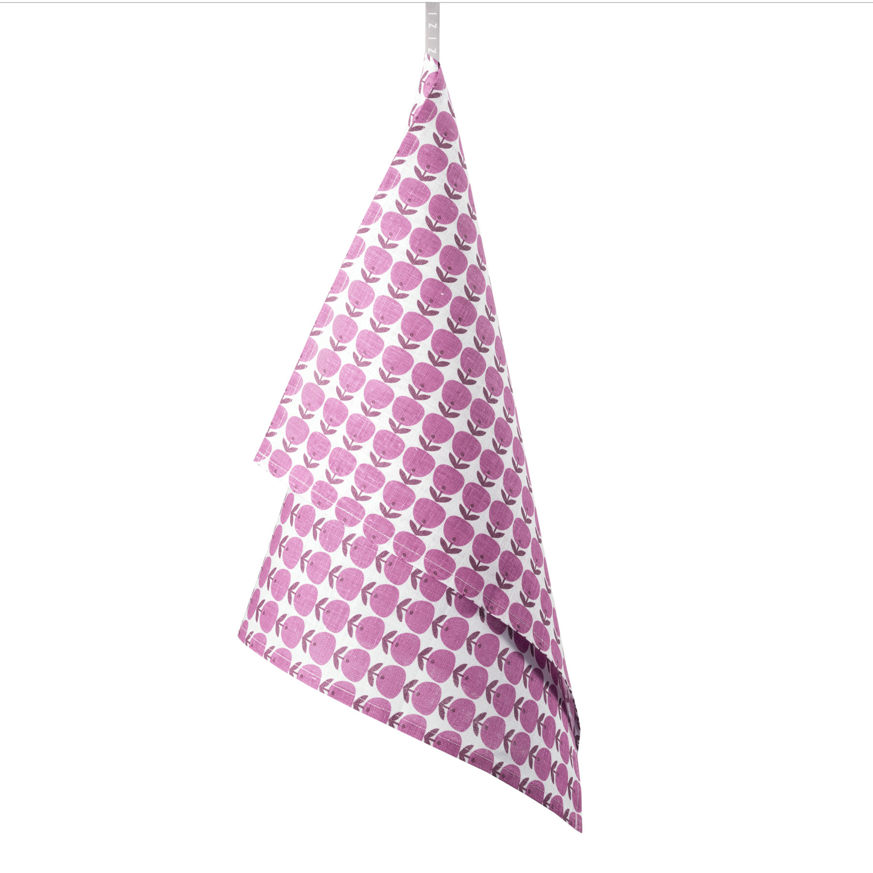 TEA TOWEL APPLE <br />pink