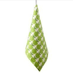 TEA TOWEL BIG APPLE –green