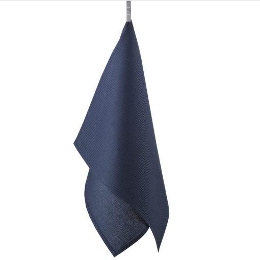 TEA TOWEL WAFFLE –dark blue