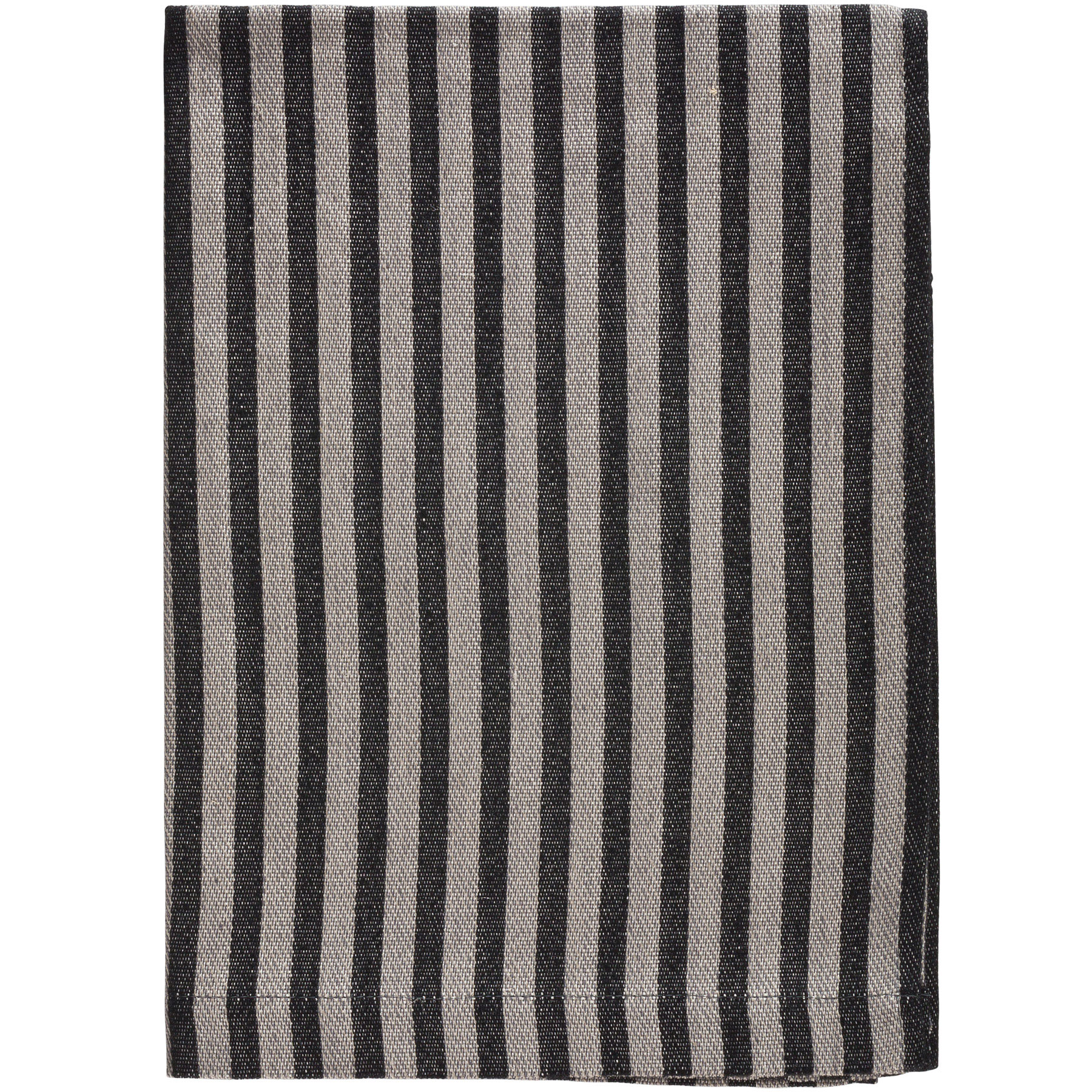 BATH TOWEL STRIPE <br />gray / black