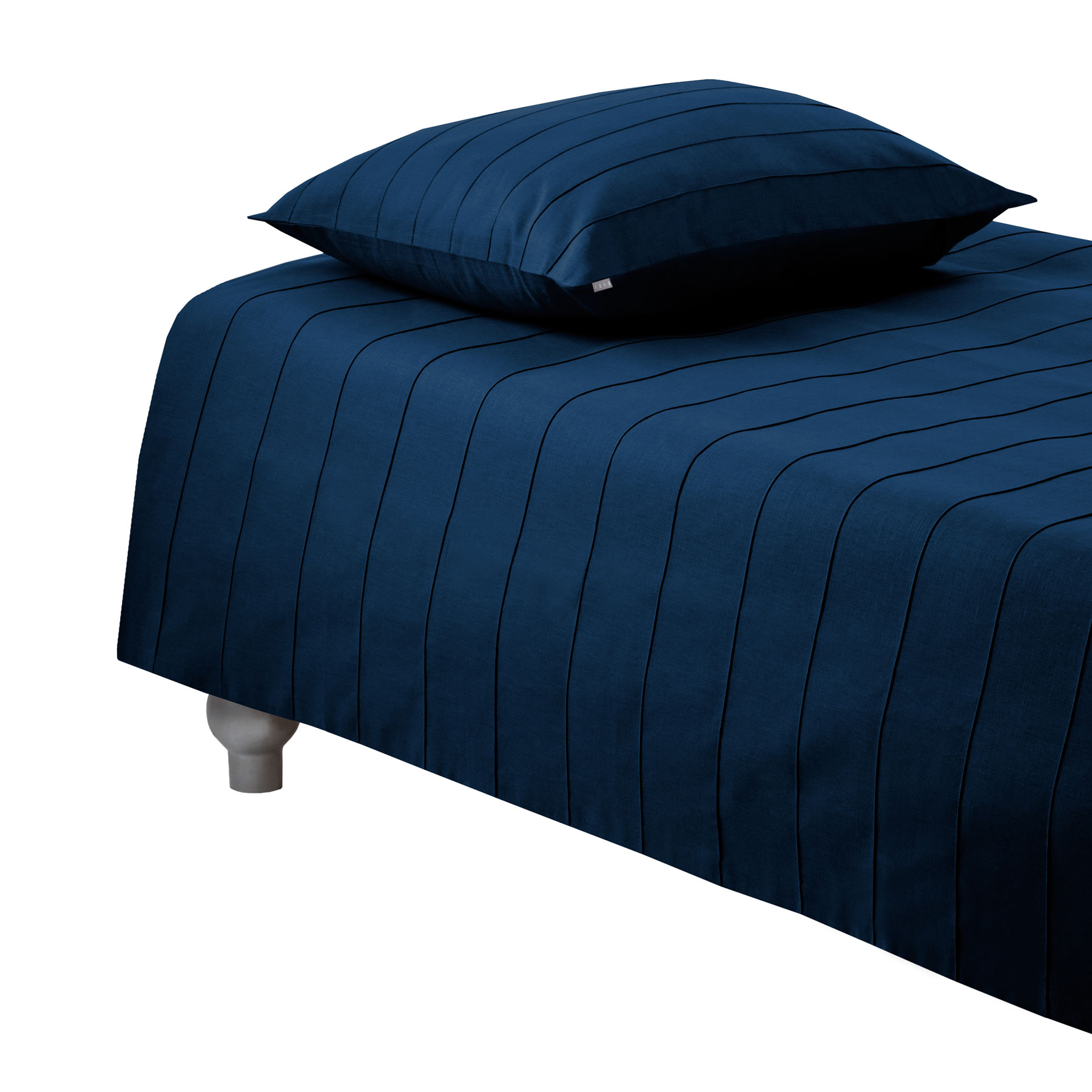 DUVET COVER IRIS <br />dark blue