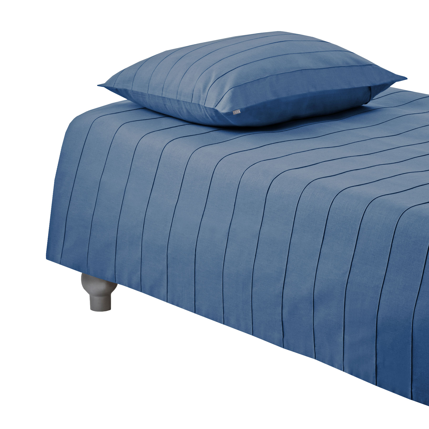 DUVET COVER IRIS <br />denim blue