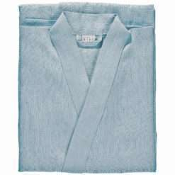 BATHROBE PLAIN –dusty blue