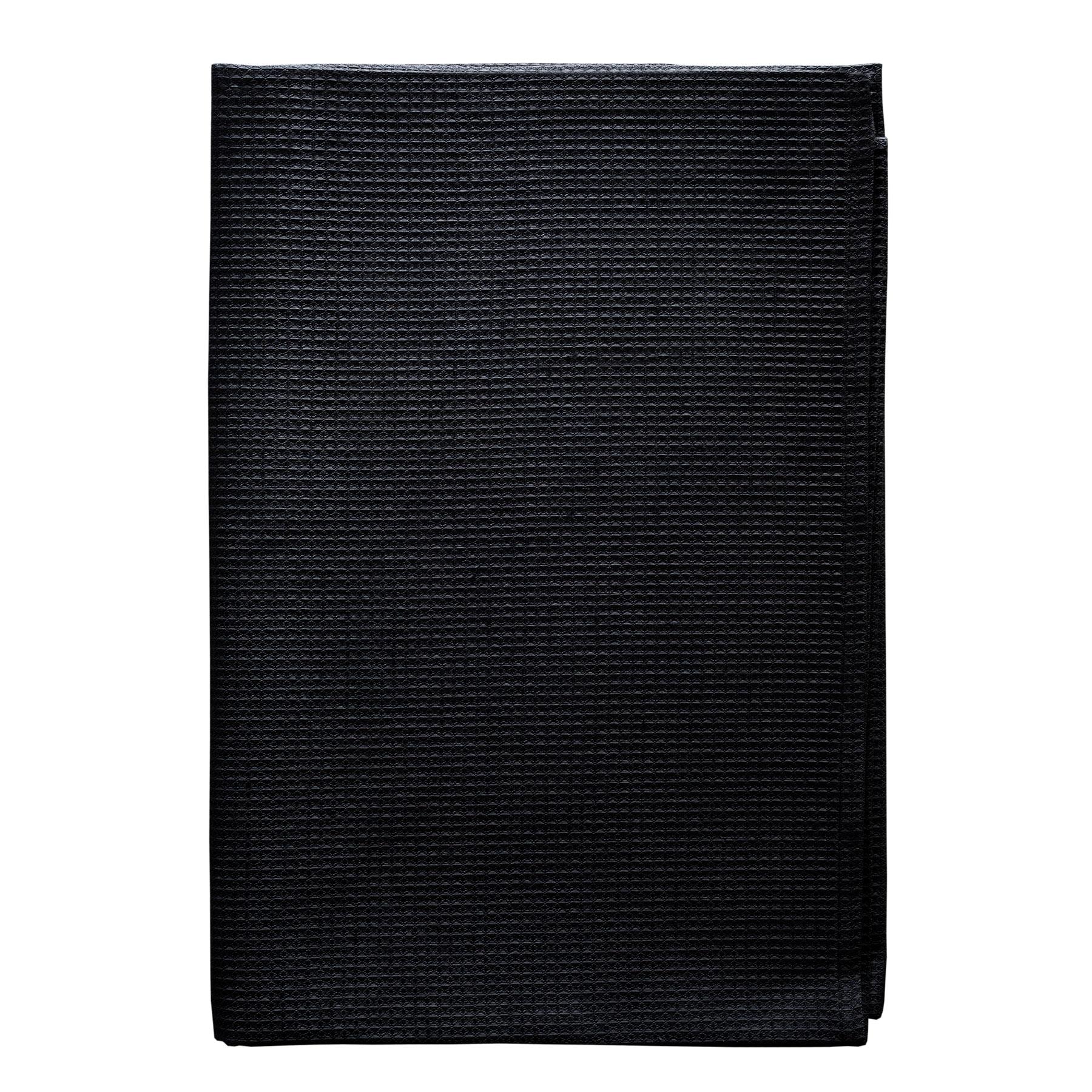 BATH TOWEL WAFFLE <br />black