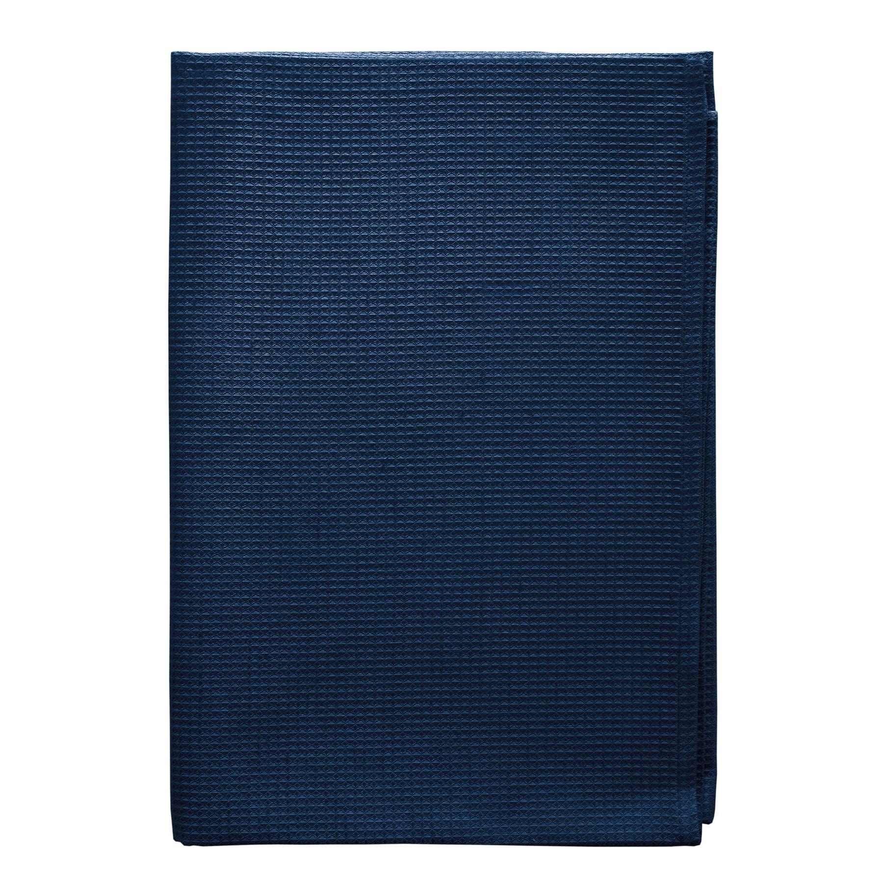 BATH TOWEL WAFFLE <br />dark blue