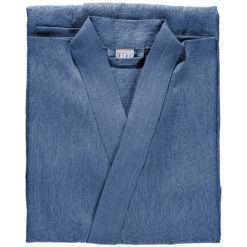 BATHROBE PLAIN –denim blue