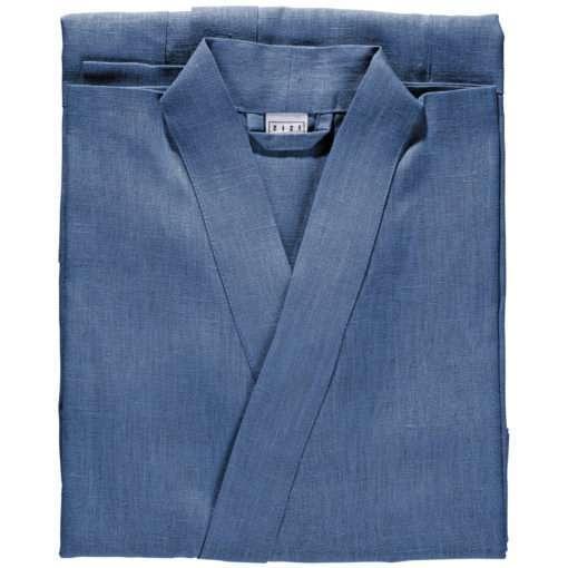 BATHROBE PLAIN –denim blue